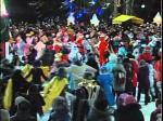 В Петропавловске в минувшее воскресенье торжественно зажгли новогоднюю елку